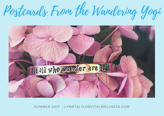 postcards from wandering yogi